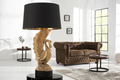 Exkluzív asztali lámpa - hattyú akácfából