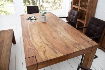 Luxus étkezőasztal masszív Timber 160 cm