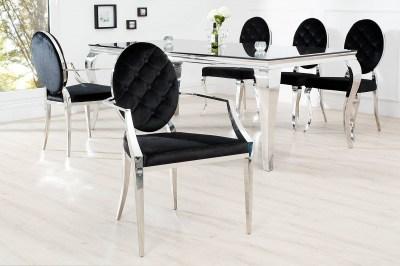 Stílusos szék Rococo kéztámlával