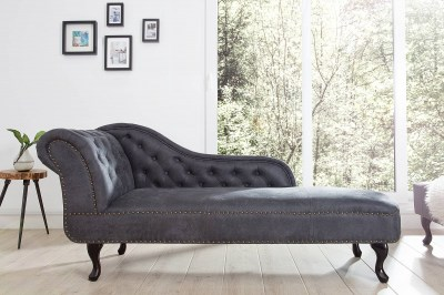 Luxus heverő Chesterfield Antik Look - szürke