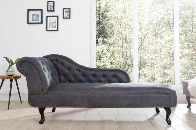 Luxus heverő Chesterfield Antik Look - szürke