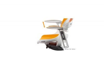 Kancelárska stolička Wanda biely podklad elastomér sivá