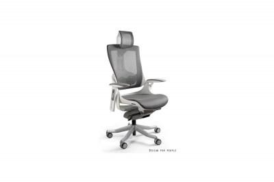 Irodai szék Wanda II - oliva színű háló fehér alappal