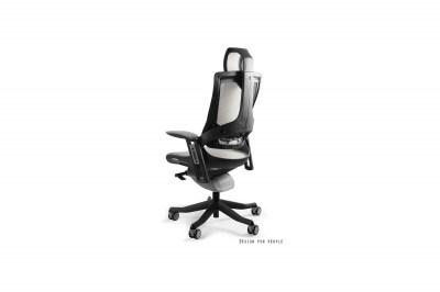 Kancelárska stolička Wanda II - sieťová čierny podklad olivová