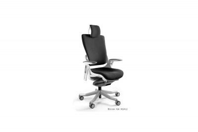 Irodai szék Wanda II - fekete szövet fehér alappal