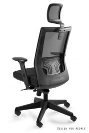 Kancelárska stolička Nataly s farebným operadlom a opierkou hlavy
