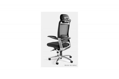 Kancelárska stolička Lena s farebnou opierkou hlavy a sedadlom