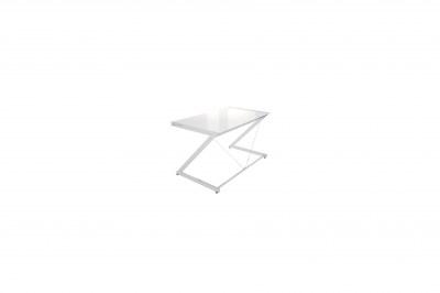 Stílusos asztal Brik krómozott fehér
