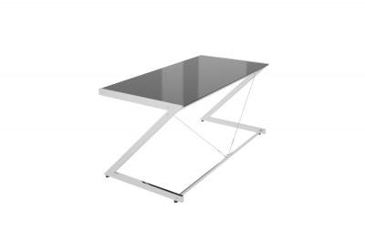 Stílusos asztal Prest krómozott fekete