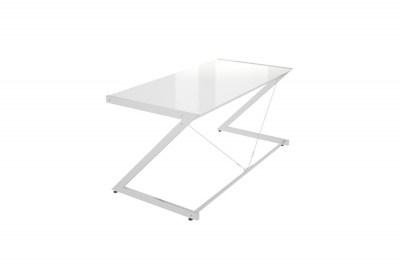 Stílusos asztal Prest krómozott fehér