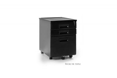 Stílusos fiókos szekrény Cassie fekete