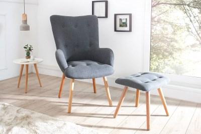 Fotel és lábtartó szett Sweden szürke