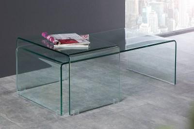 Set 2 sklenených konferenčných stolíkov Phantom