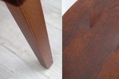 Štýlová lavica Alisson 90 cm hnedá