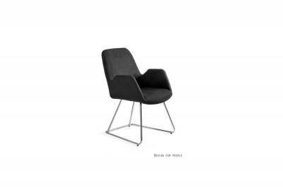 Stílusos szék Catherine fekete
