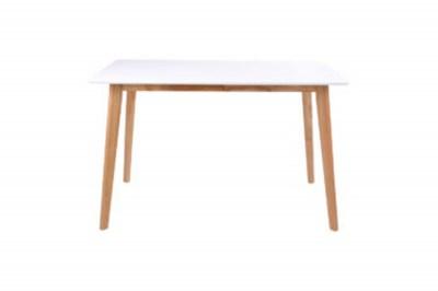 Dizajnový jedálenský stôl Carmen, prírodný / biely