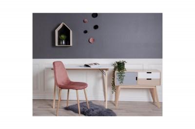 Stílusos íróasztal Carmen fehér természetes
