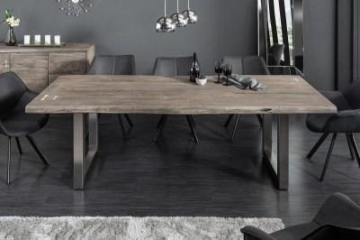 Stílusos étkező asztal Massive Artwork 200 cm szürke akácia