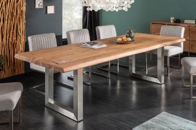 Étkezőasztal Massive Artwork 240 cm natúr akáciafa