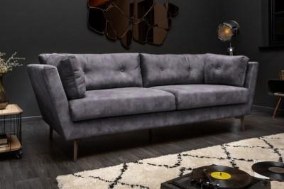 Stílusos ülőgarnitúra Billy 220 cm szürke bársony
