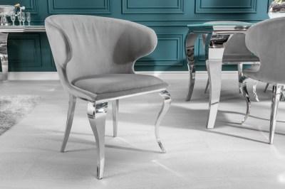 Stílusos szék Rococo II szürke bársony