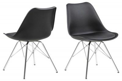Ízléses szék Nasia - fekete / króm lábak