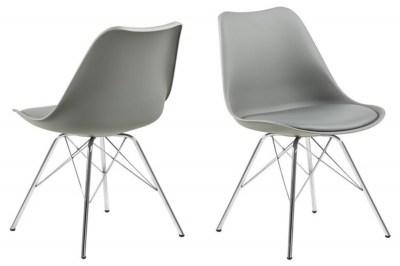 Ízléses szék Nasia - szürke / króm lábak