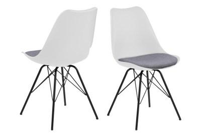 Ízléses szék Nasia - fehér szürke / fekete lábak