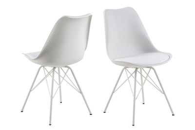 Ízléses szék Nasia - fehér / króm lábak