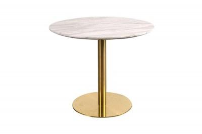 Kerek étkezőasztal Kane 90 cm márvány/sárgaréz