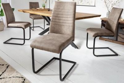 Szánkótalpas szék Nathalie antik taupe - fekete