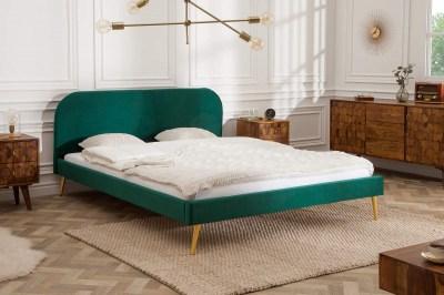 Ágy Lena 160x200 cm - zöld bársony
