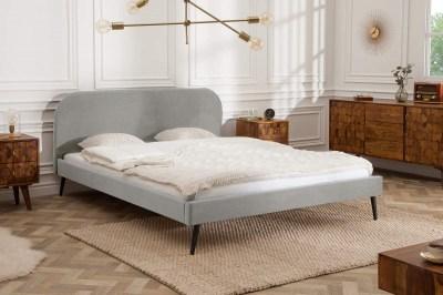 Ágy Lena 160x200 cm - ezüstszürke bársony