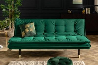 Nyitható kanapé Clark 184 cm smaragdzöld