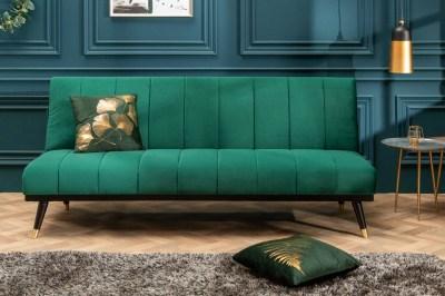 Ágyazható kanapé Halle 180 cm smaragdzöld