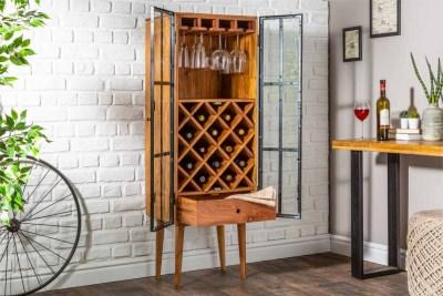 Bortartó szekrény Winebar 145 cm akácia