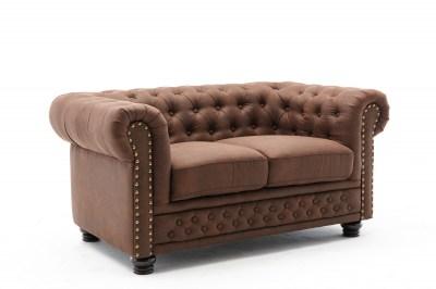 Design 2-szémelyes ülőgarnitúra Chesterfield II 150 cm antik barna
