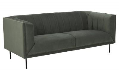 Design 3-szémelyes ülőgarnitúra Darcila 201 cm szürke-zöld