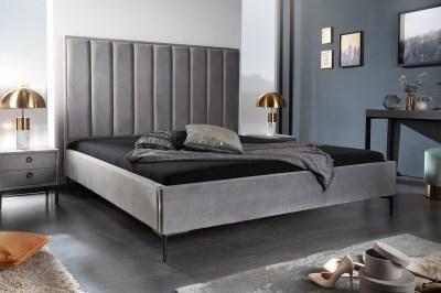 Design ágy Gallia 160 x 200 cm ezüstszürke