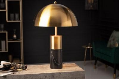 Design asztali lámpa Aamira 52 cm fekete-arany