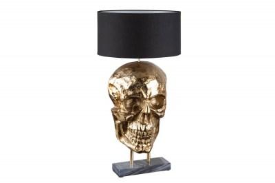 Design asztali lámpa Skull 76 cm fekete-arany