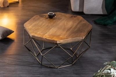 Design dohányzóasztal Acantha 70 cm mangó
