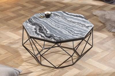 Design dohányzóasztal Acantha 70 cm márvány szürke