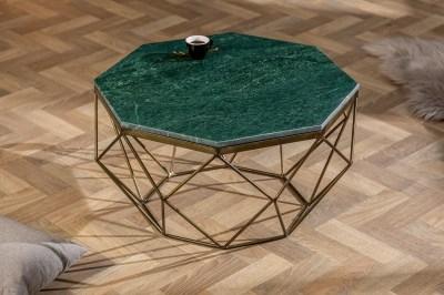 Design dohányzóasztal Acantha 70 cm márvány zöld