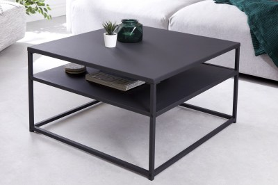 Design dohányzóasztal Damaris 70 cm fekete