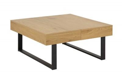 Design dohányzóasztal Danyl 80 cm vad tölgy