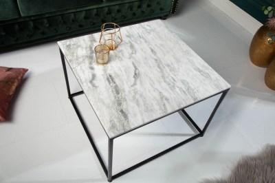 Design dohányzóasztal Factor 50 cm márvány fehér