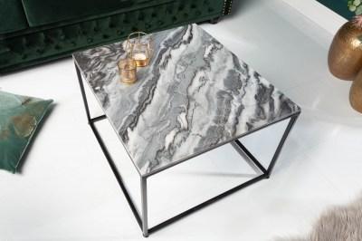 Design dohányzóasztal Factor 50 cm márvány szürke
