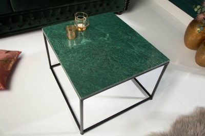 Design dohányzóasztal Factor 50 cm márvány zöld