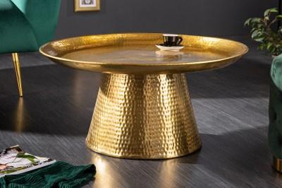 Design dohányzóasztal Malia 63 cm arany